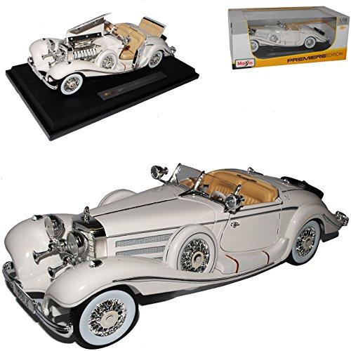 Maisto Mercedes-Benz 500K Typ Special Roadster Cabrio Weiss 1936 1/18 Modell Auto