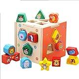 QXMEI Giocattoli Per Bambini Blocchi Per Bambini Puzzle Blocchi Educativi Geometrici Geometria Blocchi Di Legno Dimensioni Prodotto: 5.6pollices * 5.6pollices * 5.6pollices