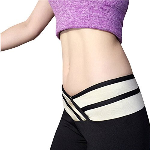 Pantaloni Yoga da Donna Cintura Elastica Fitness Leggings Nero Bianco