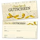 50chèques-cadeaux DIN long, Golden Flair–universel pour de nombreux branchen, format 21x 10,5cm en carton solide de haute qualité...