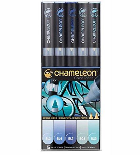 chameleon-pen-lot-de-5marqueurs-tons-de-bleu-pantone-professionnels