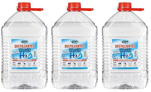 VECARO Destilliertes Wasser 15 Liter 3 Kanister zu je 5 Liter