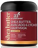 ArtNaturals Shea-Butter Avocado und Litschi Haarkur - (8 Oz / 226g) - Feuchtigkeitsspendende Haarmaske für Trockenes und Beanspruchtes Haar - mit Kokosöl, Aloe Vera und Hagebuttenextrakt