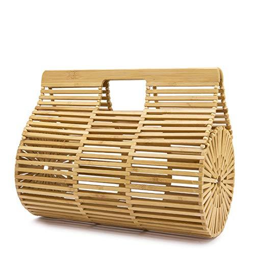 Frauen Handtaschen Bamboo Top Griff Tasche für Damen New Summer Holiday Beach Bag Small Size -
