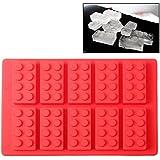 Silicona forma como Lego piedras klötze Hornear cubitos de hielo moldes Praline Forma