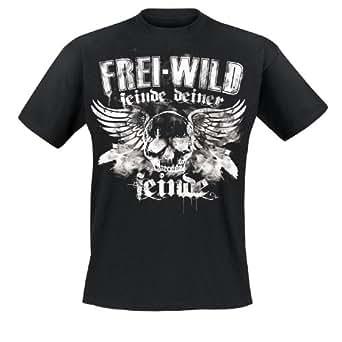 Frei.Wild - Feinde Deiner Feinde/Skull T-Shirt, schwarz, Grösse 5XL
