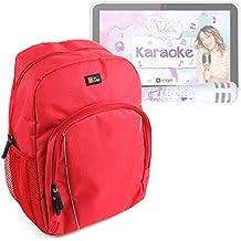 DURAGADGET Mochila Para Niños Para Ingo Tablet Violetta Karaoke   One Direction + Funda Impermeable - Roja - Alta Calidad