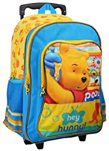 "Winnie the Pooh Blue 16"" Trolley School Bag For Kids"