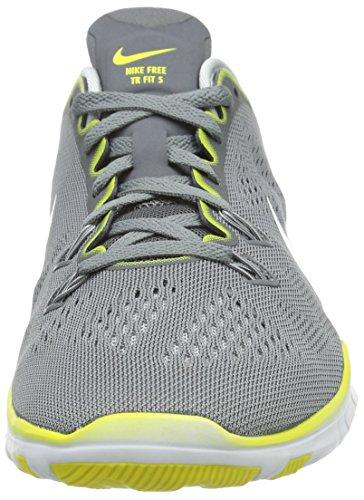 Nike Nike Free 5.0 TR Fit Damen Laufschuhe, Chaussures de course femme Gris (Grey/White/Pure Platinum)