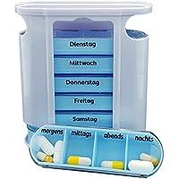 M&H-24 Medikamentendosierer für 7 Tage mit 4 Fächern - Tablettenbox Pillenbox Pillendose Tablettendose Wochendosierer... preisvergleich bei billige-tabletten.eu