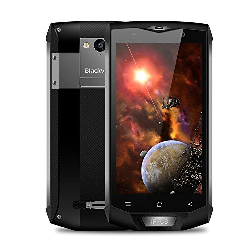 Blackview BV8000 Pro Smartphone,5.0 Pollici Display Android 7.0 4G Telefono Cellulare,IP68 Waterproof /Dustproof /Shockproof Moible Phone,MTK6757 Octa-core 2.6GHz,6GB + 64GB - Grigio