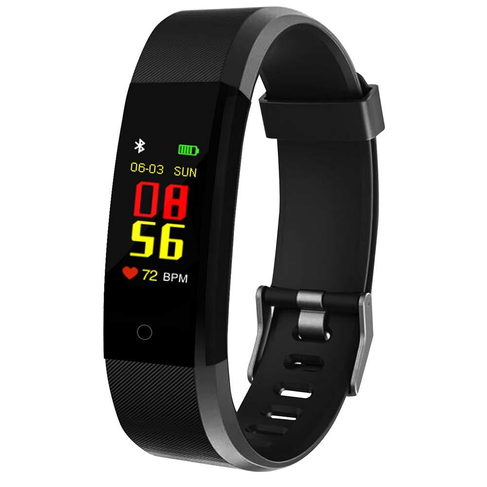MENGZHEN 1 UNID ID115 Plus Monitor de Actividad del Ritmo cardíaco Pantalla táctil Usable Podómetro Bluetooth Pulsera… 1