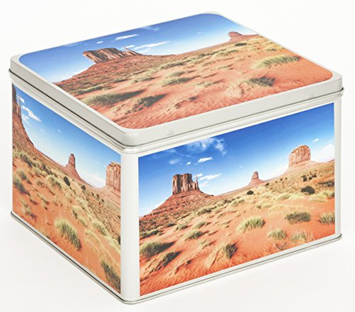 Fotoalbum Metalldose Schachtel Blechbox Keksdose Motiv USA Monument Valley