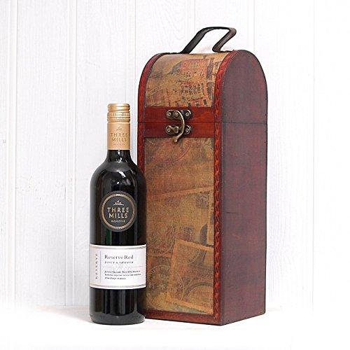Tre Mille Reserve Vino Rosso 750ml Nel portafoglio di stile vintage - il regalo ideale per il compleanno, la pensione, grazie