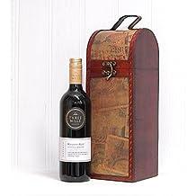 Tres Mills Reserve Vino Tinto 750ml En el portavasos estilo vintage - el regalo ideal para