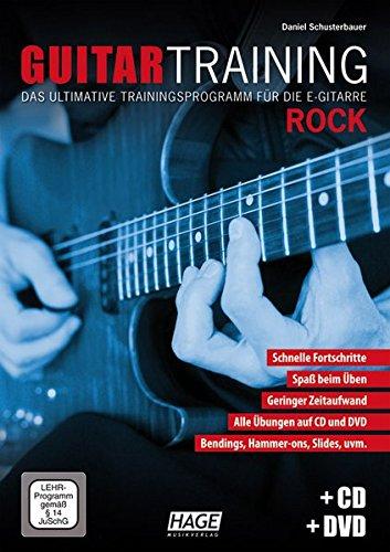 Guitar Training Rock (Mit CD Und DVD). Für E-Gitarre, Gitarrentabulatur(Elektrik)