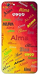 Alma (Soul With Dark Red Lips Nourishing Soul) Name & Sign Printed All over customize & Personalized!! Protective back cover for your Smart Phone : MircroSoft Lumia 535