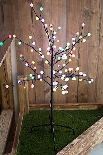 Lampe extérieure LED arbre lumineux décoration éclairage DEL multicolores jardin terrasse