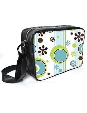 Snoogg Multicolor Kugeln Leder Unisex Messenger Bag für College Schule täglichen Gebrauch Tasche Material PU