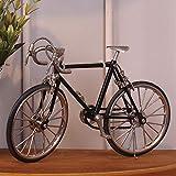 shunlidas Home Deko Dekoration Schlafzimmer Figurinehandgemachtes Fahrrad Lebensechtes Altes Fahrrad Die Kreativen Geschenke, Schwarz