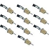 10 Stk. Ausgießer für Flaschen - aus Edelstahl/ Naturkorken mit Verschlusskappe und Lüftungsrohr