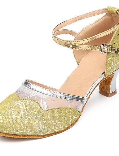 La mode moderne Sandales Chaussures de Danse Suede / Patent Cuir Daim cuir / Amérique / talon aiguille talons moderne Pratique/IndoorBlack US5.5 / EU36 / UK3.5 / CN35