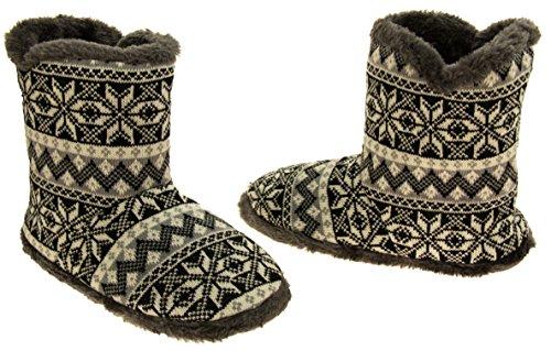 Coolers Hommes Pantoufles en flocon de neige Noir