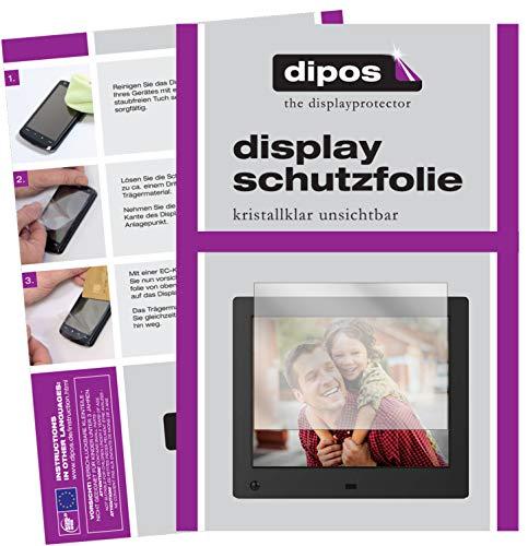 dipos I 6X Schutzfolie klar passend für NIX Advance 8 Zoll Digitaler Bilderrahmen Folie Displayschutzfolie