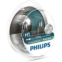 Philips 12258XV+S2 Lámpara Halógena para Coche H1, 55 W, 2 Unidades