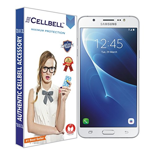 "Cellbell Tempered Glass Screen Protector for Samsung Galaxy J7 (2016) - Bronze Edition (Transparent) (5.5"" Inch Display)"