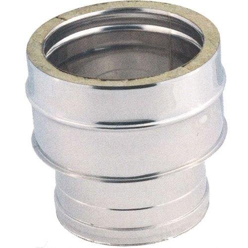 Doppelwandverbinder aus Inox-Stahl für Rauchrohr- alle Größen