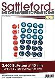 Sattleford Etiketten selbstklebend: 2400 Etiketten rund 40 mm für Laser/Inkjet (Laserdruck-Etiketten)