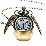 EVRYLON - Collar Mago Harry para Hombre con Colgante de Reloj de Bolsillo, diseño de Boca de Oro de...