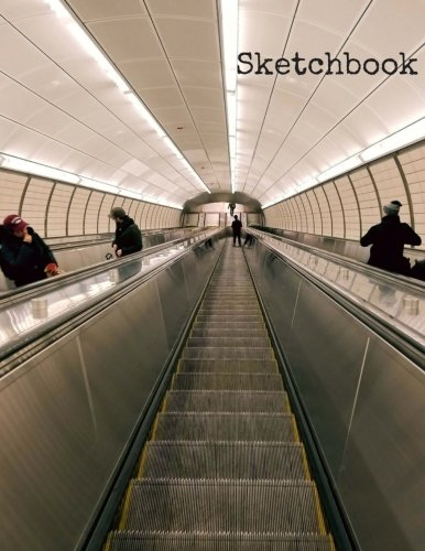 """Sketchbook: 8.5 x 11 Large Sketchbook, """"Underground Escalator"""" Soft Matte finish cover, Drawing Book, Blank Writing Book, Legal Size Notebook, A4 ... durable pages with No Lines (New York Shots)"""