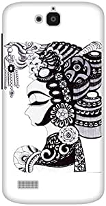 The Racoon Grip Lady hard plastic printed back case / cover for Huawei Honor Holly