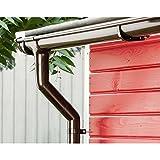 Marley Dachrinnen-Set RG 75 für Pultdächer 4 Meter Traufenlänge Regenrinne braun