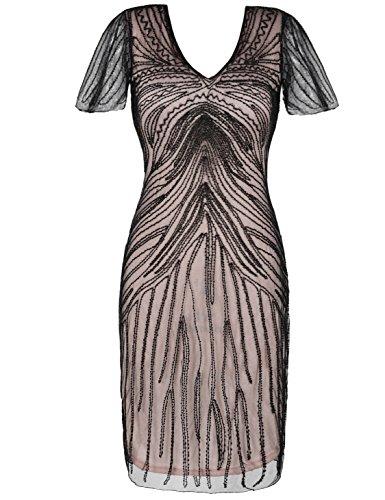 Kayamiya Damen Gatsby Kleid Retro 1920er Jahre inspiriert -