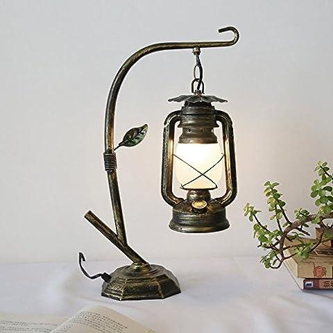 DIDIDD Lampe de lecture idéale - American village vintage lampes de varech Lampe de table créative rétro caf eacute; lampe de table de restaurant (couleur facultative) --desk et l'éclairage de cheve