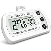 NEXGADGET Refrigerator Thermometer Waterproof Fridge Freezer Thermometer With Easy to Read LCD Display and Max/Min Function,Perfect for Fridge, Freezer