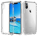 Vproof iPhone XS Max Hülle [Crystal Clear] iPhone Case Stoßfeste Ecke Kissens Bumper mit Harten PC-Rückseite & Verstärkten Weichen TPU-Rahmen für Apple iPhone XS Max 6.5-Zoll (2018)