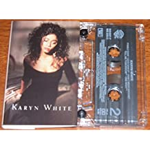 KARYN WHITE. 1988 SELF TITLED 9 TRACK AUDIO CASSETTE TAPE WITH FOLD OUT BOOKLET incls SUPERWOMAN