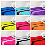 Nice Colors-* Juego SABANAS 3 Piezas 100% Poliester, Fabricado ESPAÑA (Gris, 150_x_200_cm)