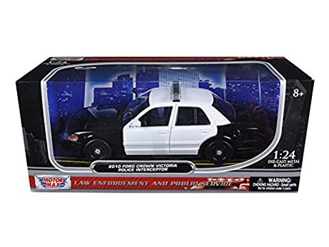 MOTOR MAX 1:24 W/B 2010 FORD CROWN VICTORIA LAW ENFORCEMENT AND PUBLIC SERVICE 76420