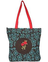 pick pocket Women's Tote Bag (Brown & Blue) (ToBrn&Rama85)