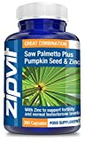 Saw Palmetto Plus Pumpkin Seed & Zinc | 360 Capsules | Mens Health Formula | 6 Months Supply from Zipvit