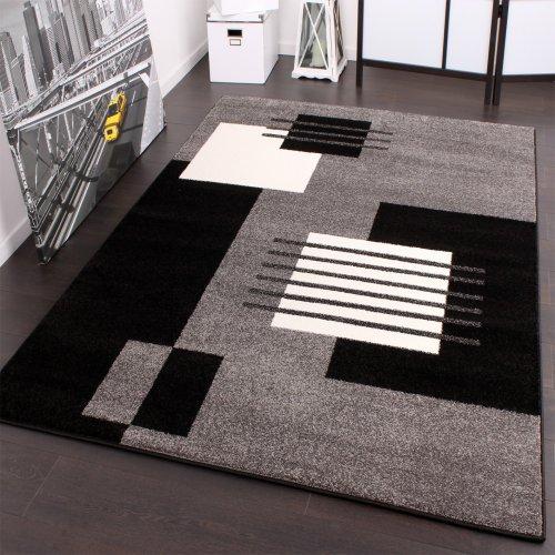 Alfombra De Diseño - A Cuadros - Gris Negro Blanco - A Un Super Precio , tamaño:70x250 cm