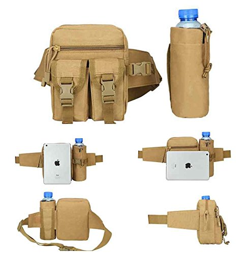 Marsupio Water Bottle, impermeabile tattico militare cintura Utility Water Bottle Pouch bag marsupio per trekking hiking Walking Bike ciclismo arrampicata, ArmyGreen CP