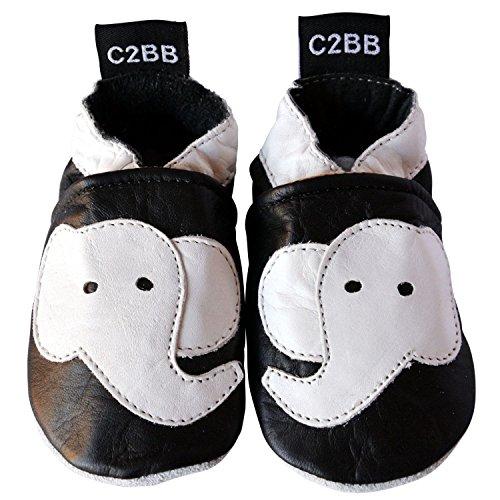 C2BB - Scarpine Morbida Cuoio Bambini - ragazzo | Elefante Nero