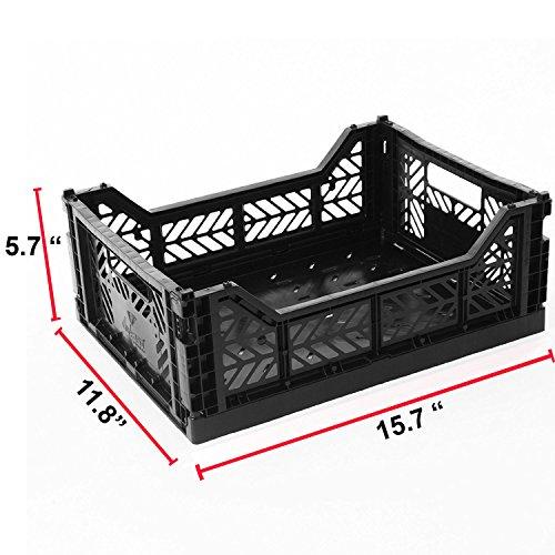 Faltbar Aufbewahrungsbox faltbar Korb Bin/Container/zusammenfaltbar,: faltbar, Küche, Houseware Allzweckkorb/Tote/Box-midi-box schwarz - Tote Papierkorb