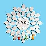GJ-Le salon de mode horloge murale Miroir acrylique argent,l'arrière-plan...